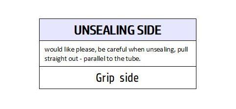 unsealing side label